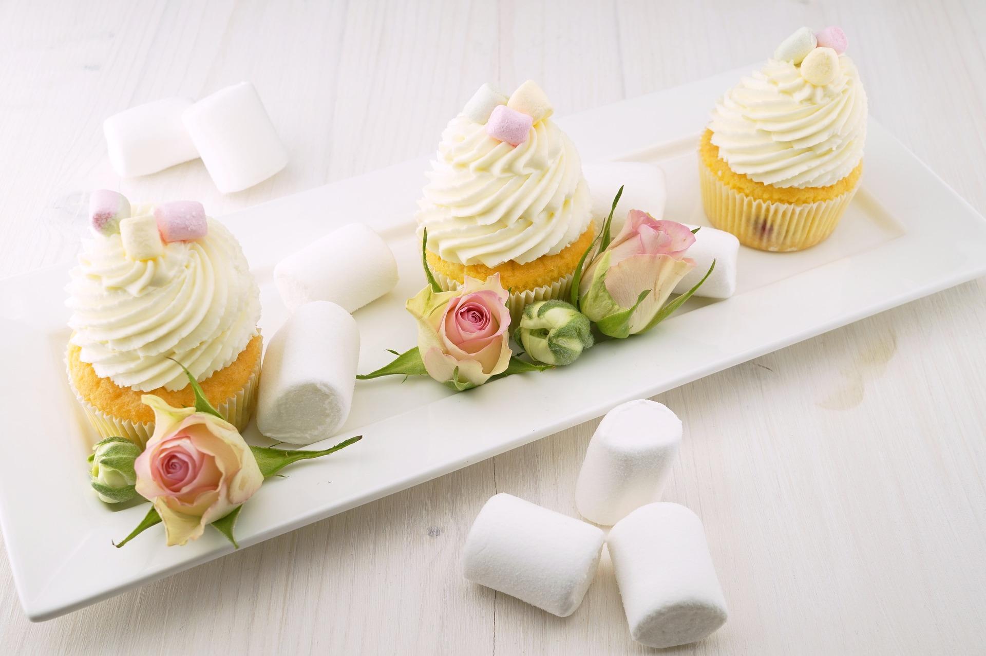 dortíky s růžemi