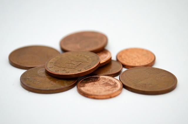 peníze, drobné mince
